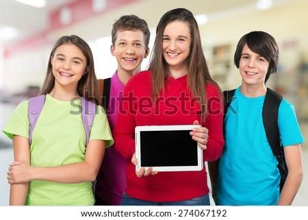 Academic, beginner, boy. - stock photo