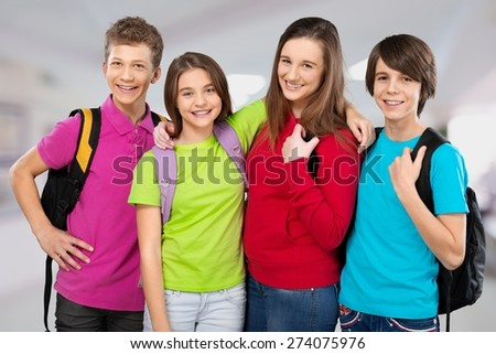 Academic, beginner, boy. - stock photo