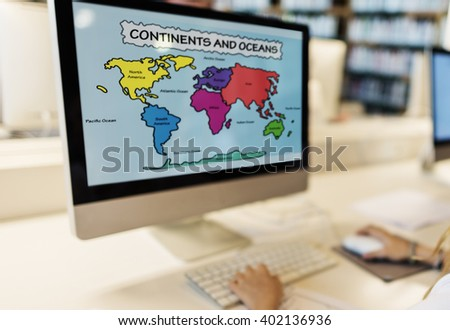 Academic School Childern E-learning Geography Concept - stock photo