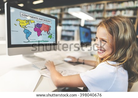Academic School Children E-learning Geography Concept - stock photo