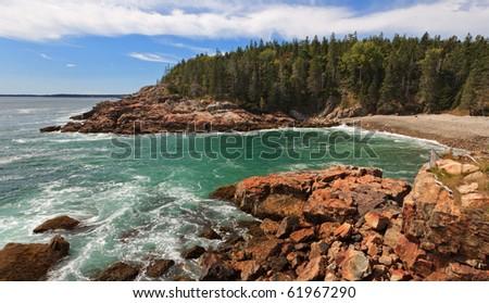 Acadia National Park, Otter Cliff area - stock photo