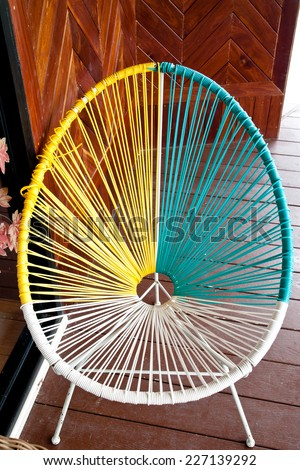 Acapulco chair - stock photo