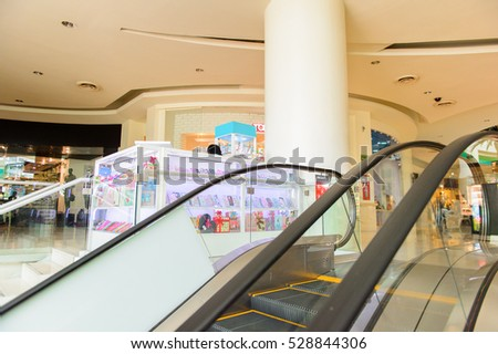 ACAPULCO, MEXICO - OCT 29, 2016: Interior of the Galerias DIana Commercial centre. It's located on  the av. Costera Miguel Aleman