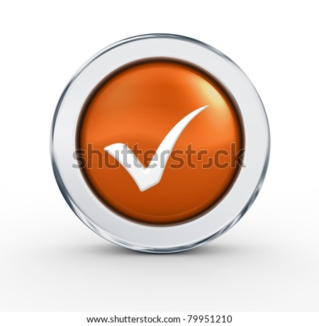 Accept mark - stock photo