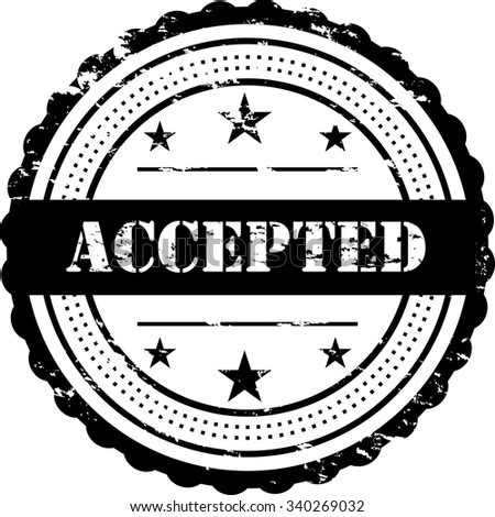 Accepted  - Grunge Stamp / Badge - stock photo