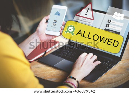 Access Allowed Entrust Password Secured Concept - stock photo