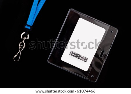 Access Card with Blue Lanyard - stock photo