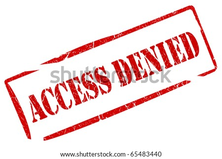 Access denied stamp - stock photo