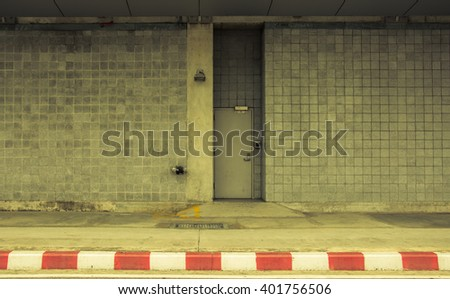 access system to lock and unlock fire exit doors,vintage tone - stock photo