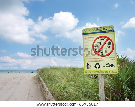 Access to Miami Beach - stock photo