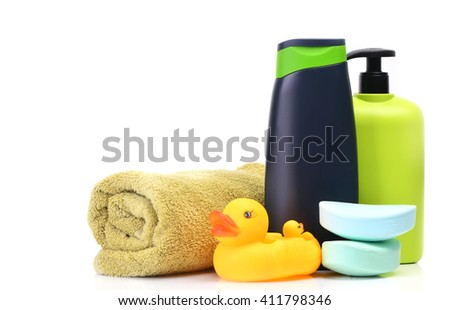 Accessories for a bathtub - stock photo