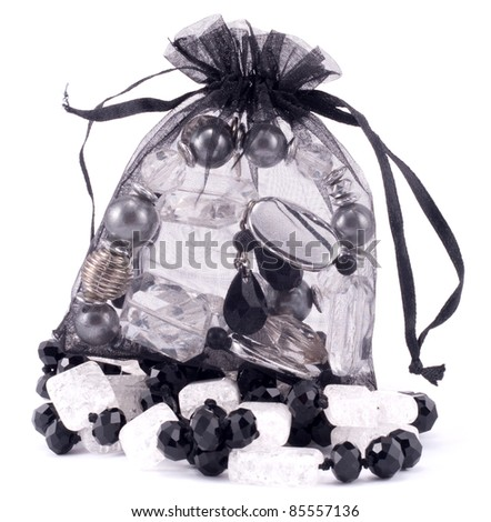 Accessories packed in stylish bag - stock photo