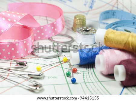 Accessory of the tailor - stock photo