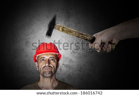 Accident at work - stock photo
