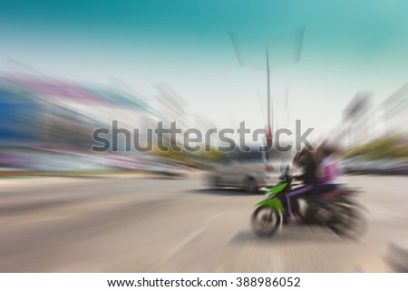 Accident motion on road, use for background. - stock photo