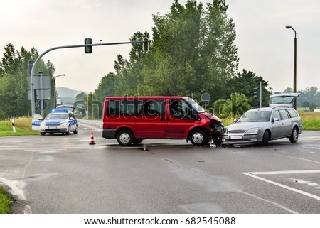 Accident on a crossroads