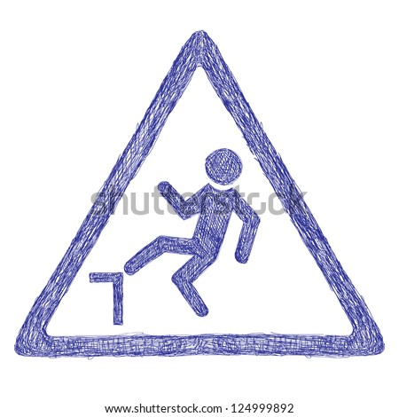 Accident road sign - stock photo