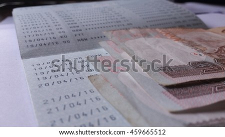 Account book deposit thaibath bank not one thousand