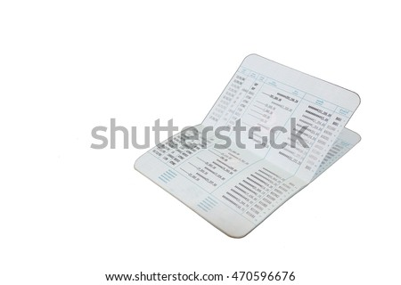 account passbook thai on white background.bank account passbook . (View with copy space)
