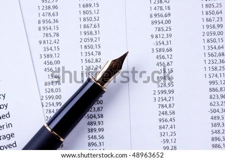 Account statement - stock photo
