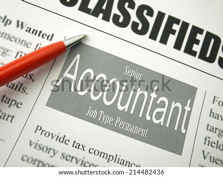 Accountant (Classifieds)  - stock photo