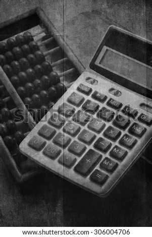 Accountants era before digital system. Black & White picture style