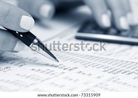Accounting - stock photo