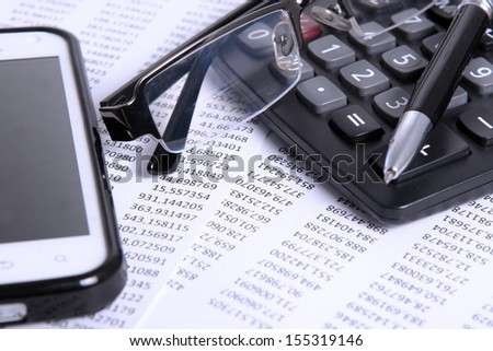 Accounting and Finance  - stock photo