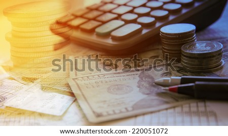 accounting and finance concept - stock photo