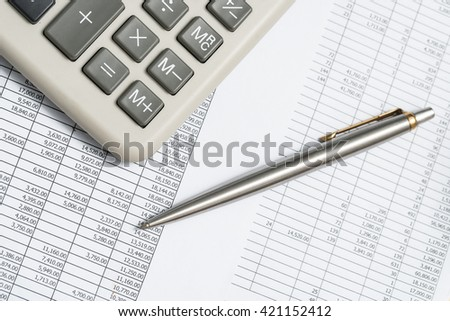 Accounting calculations - stock photo