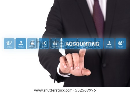 Accounting Concept with Icon Set