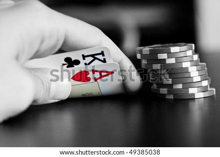 Ace & king - stock photo