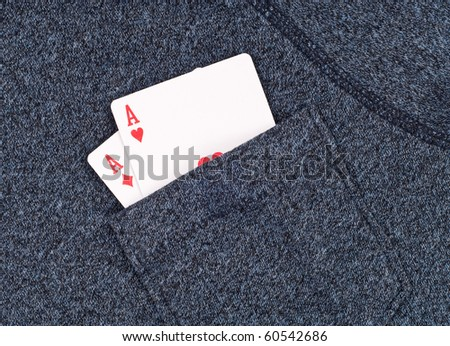 Aces in the Pocket - stock photo