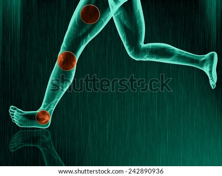 ache feet  - stock photo