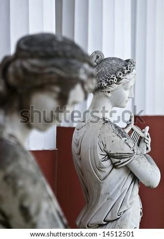 Acheilion palace at Corfu island in Greece - stock photo