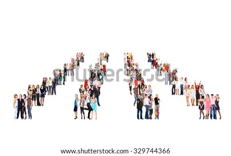 Achievement Idea Together we Stand  - stock photo