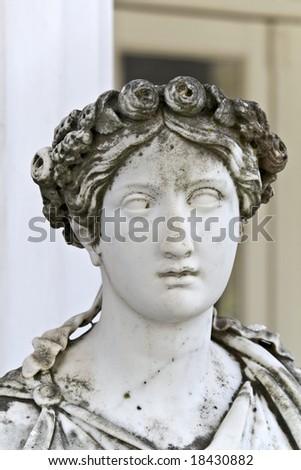Achilleion palace at Corfu island in Greece - stock photo