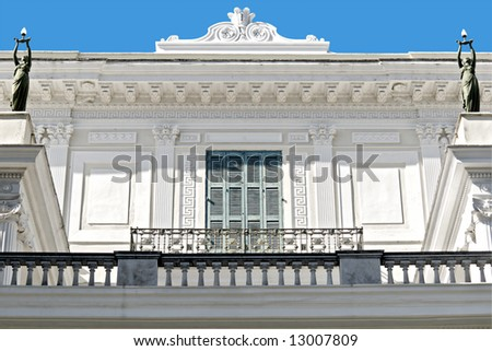 Achilleion palace detail from Corfu, Greece - stock photo