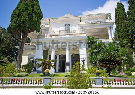 Achillion palace on Corfu island - Greece - stock photo