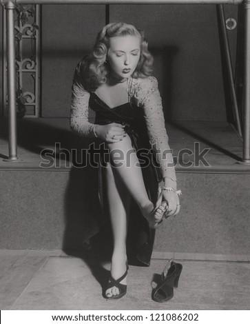Aching feet - stock photo