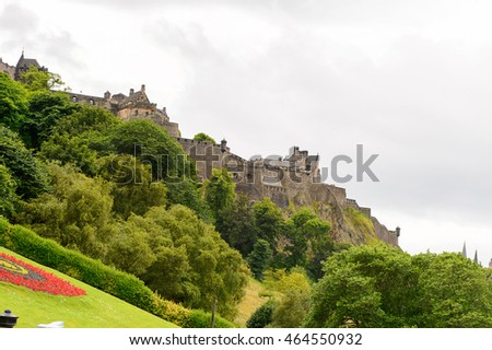 Achitecture of Edinburgh, Scotland. Old Town and New Town are a UNESCO World Heritage Site