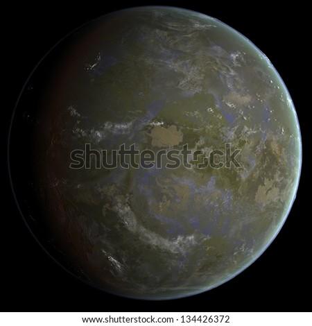 Acid Seas Exo Planet - stock photo