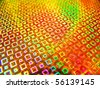 Acid yellow abstract rave cultured club neon background - stock photo