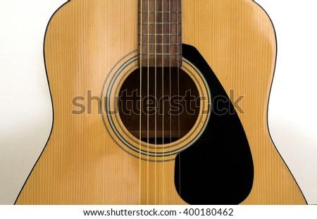Acoustic guitar body - stock photo