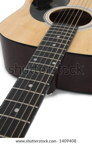 Acoustic guitar IV - stock photo