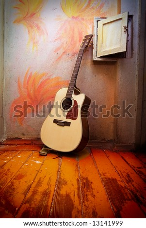 Acoustic guitar with metal strings