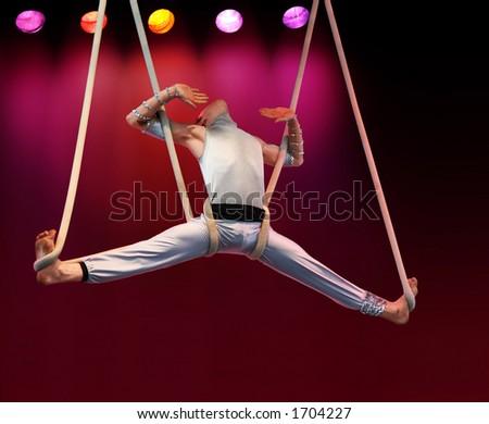 Acrobat on stage - stock photo