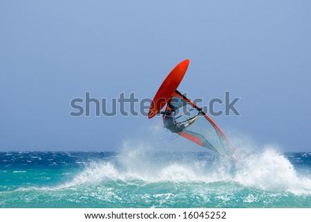 acrobatic surfer - stock photo