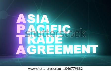 Acronym Apta Asia Pacific Trade Agreement Stock Illustration