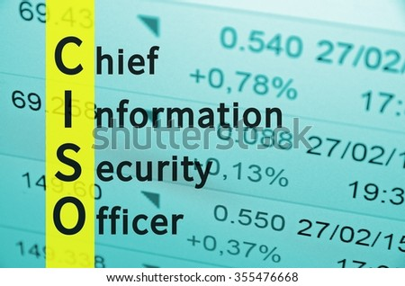 Perfect Acronym Ciso Chief Information Security Officer Stock Illustration  355476668   Shutterstock